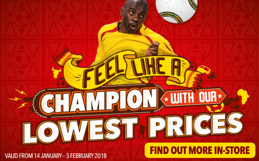 FEEL LIKE A CHAMPION WITH OUR LOWEST PRICES