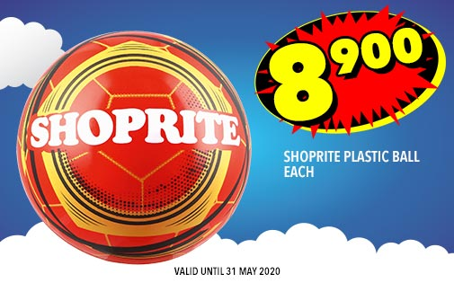 SHOPRITE PLASTIC BALL EACH, 8,900
